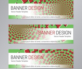 illusion banner vector header template vector 18