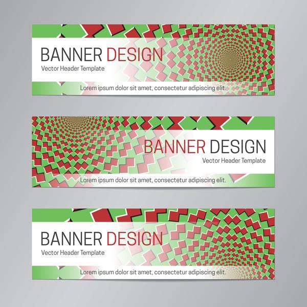 illusion banner vector header template vector 18