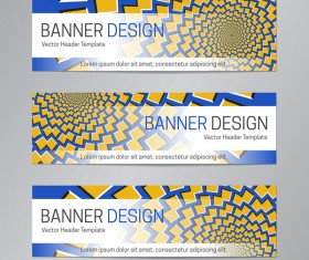 illusion banner vector header template vector 19