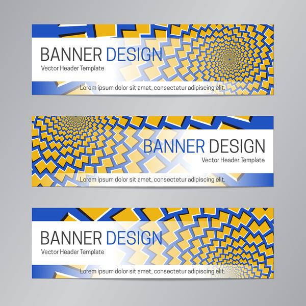 illusion banner vector header template vector 19