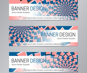 illusion banner vector header template vector 20
