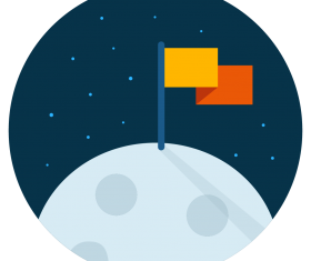 moon flag icon vector