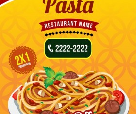pasta poster template vector