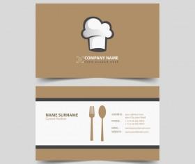 restaurant business card vector