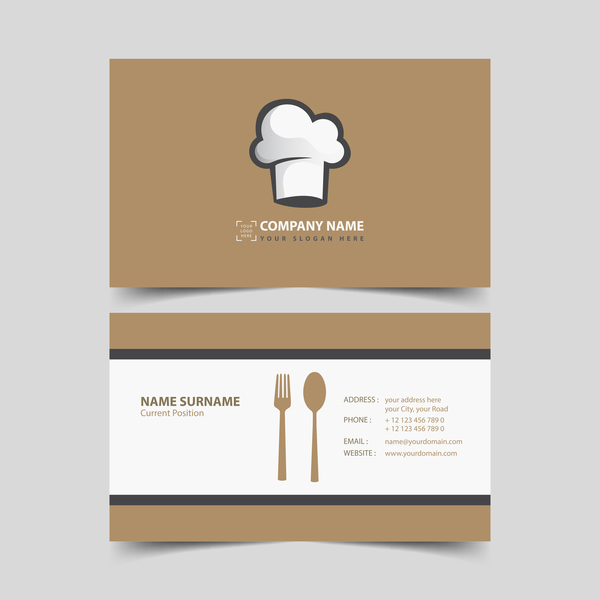 Restaurant business card vector vector business vector card restaurant business card vector reheart Image collections