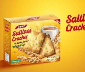saltine cracker ad poster template vector 03
