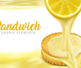 sandwich cookies vector material 01