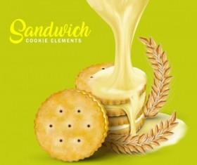 sandwich cookies vector material 03