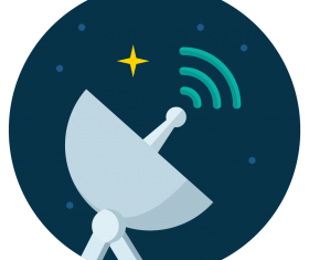 satelite radar icon vector