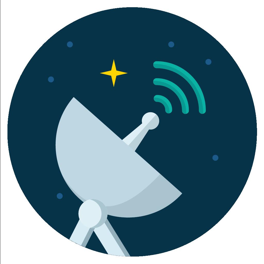 satelite radar icon vector