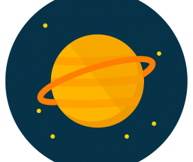 saturn icon vector