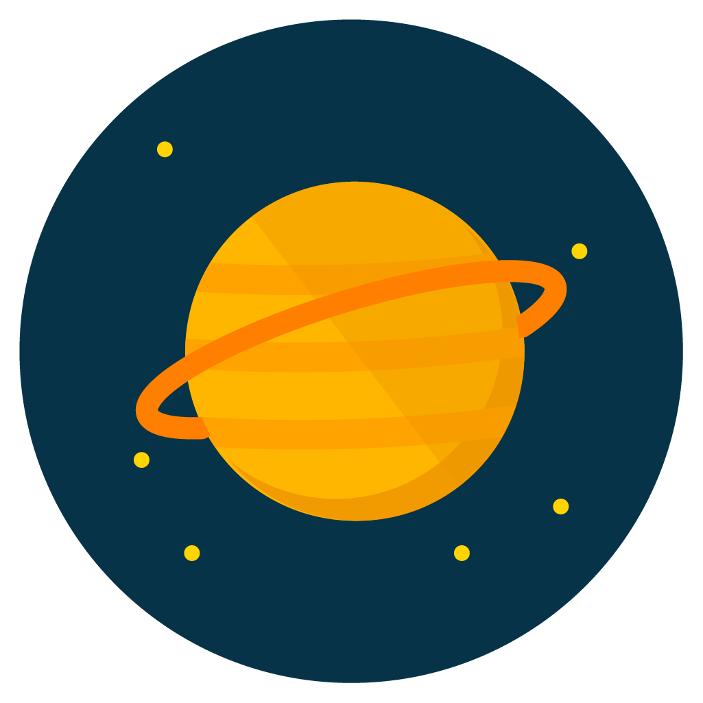 saturn icon vector