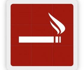 smoking icon vector