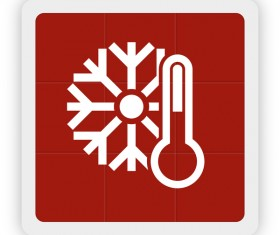 sonwflake and thermometer icon vector