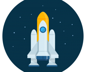 spaceship icon vector