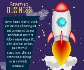 startup business template vector material