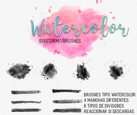 storm editions watercolor photoshop brushes