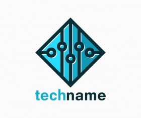 tech logo vector