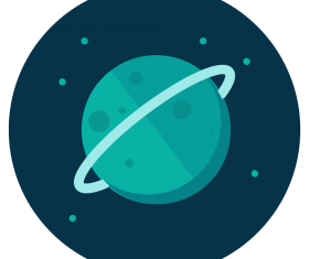 uranus icon vector