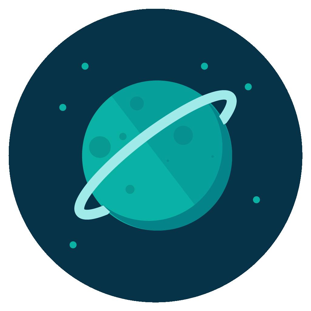 uranus icon vector