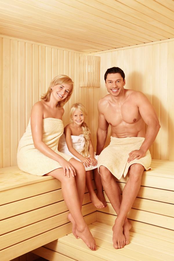 wash sauna family Stock Photo 03