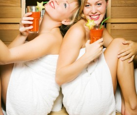 wash sauna sisters Stock Photo 01