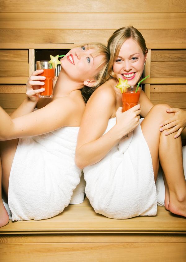 wash sauna sisters Stock Photo 01
