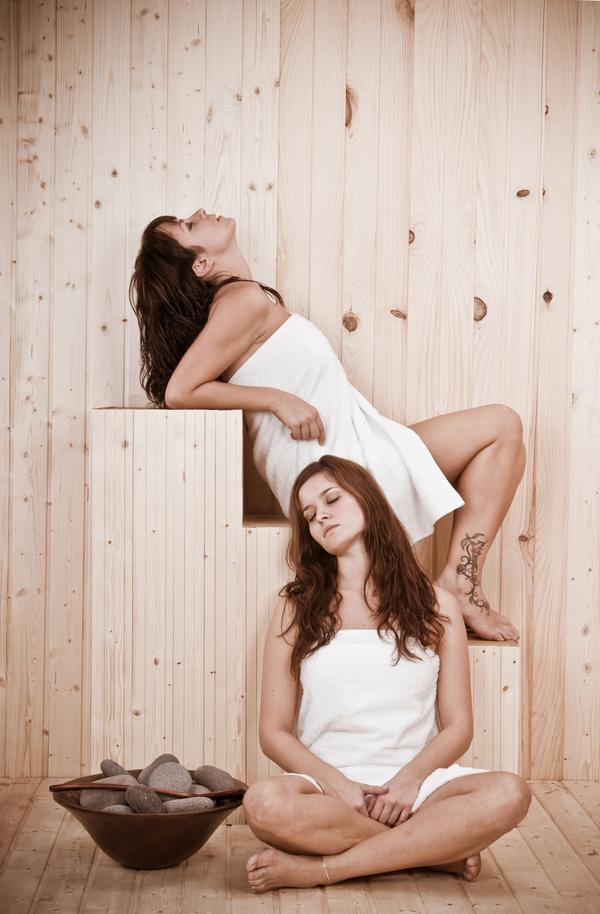wash sauna sisters Stock Photo 02