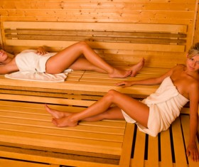 wash sauna sisters Stock Photo 04