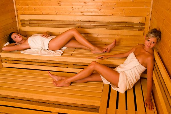 wash sauna sisters Stock Photo 04