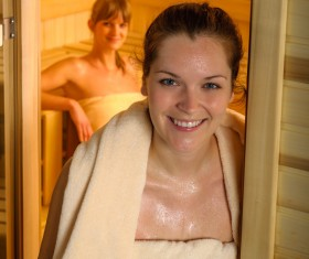 wash sauna sisters Stock Photo 07