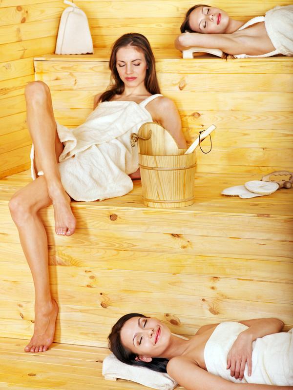 wash sauna sisters Stock Photo 08
