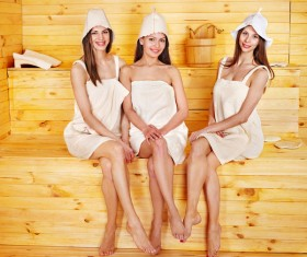wash sauna sisters Stock Photo 09