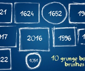 10 Kind grunge border Photoshop Brushes