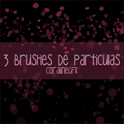 3 particulas Photoshop Brushes