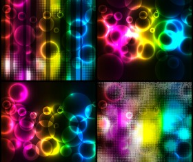 4 Kind colorful abstract background vector