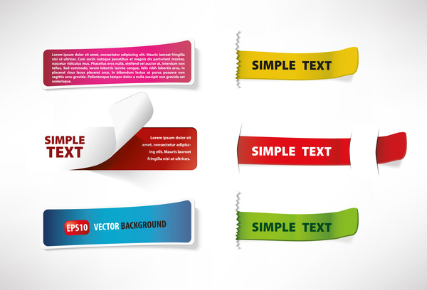 6 Kind bookmarks vector material