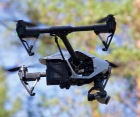 Aerial camera Stock Photo