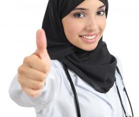 Arab female doctor Stock Photo