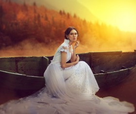 Artistic conception wedding photo Stock Photo