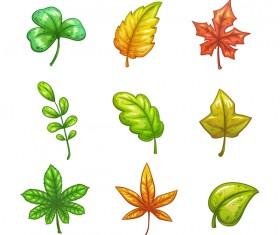 Autumn leaves set vector 03