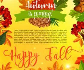 Autumn season flyer page template vector 01