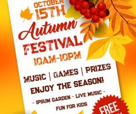 Autumn season flyer page template vector 02