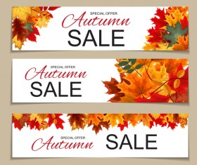 Autumn special offer banners template vector 02