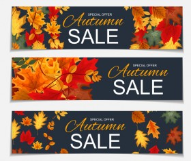 Autumn special offer banners template vector 03