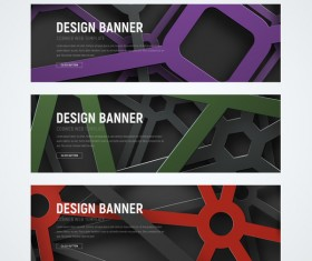 Banner with cobweb vector 02