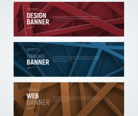 Banner with cobweb vector 03