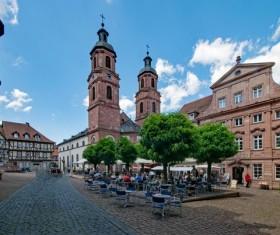 Bavarian church Stock Photo