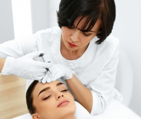 Beautician for customer beauty services Stock Photo 05