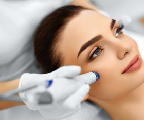 Beautician for customer beauty services Stock Photo 07
